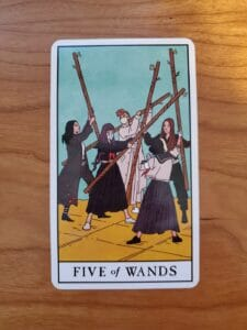 Strife - Five of Wands