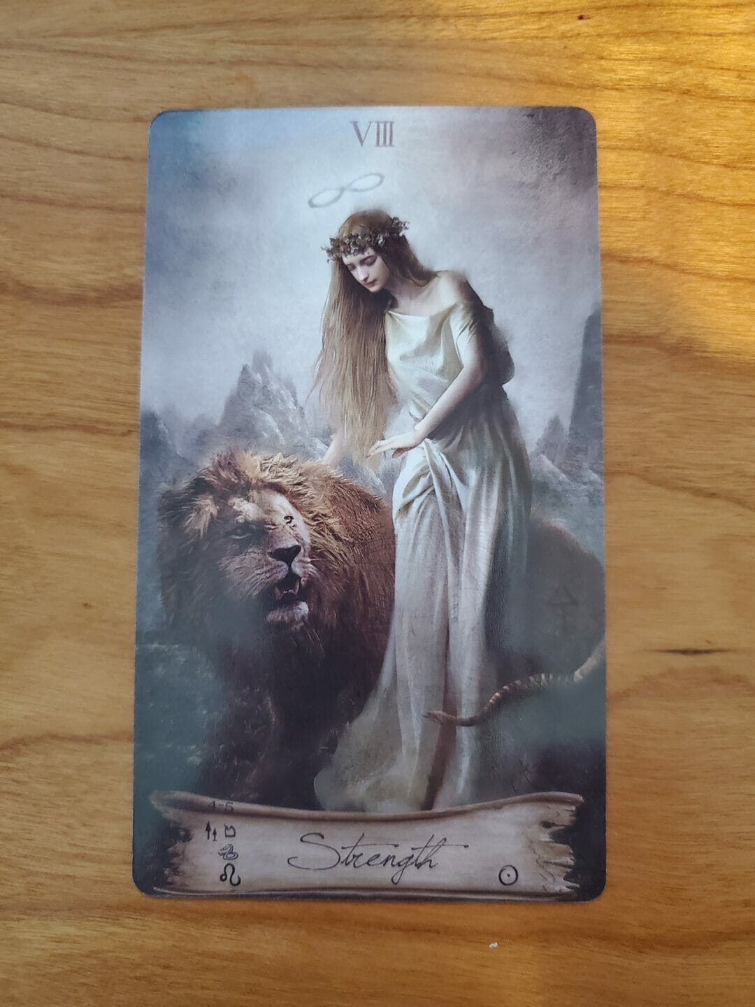 The Lion as Laziness in the Strength Card