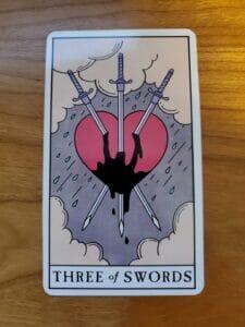 Three of Swords Tarot Reversals
